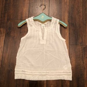 Sheer Lace Cotton Tank